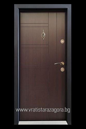 Входна врата модел СЛ-101 цвят Венге