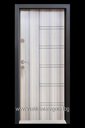 Входна врата модел СЛ-101 цвят Мистик