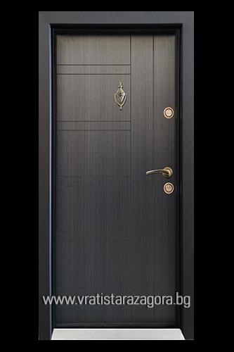 Входна врата модел СЛ-101 цвят черна перла