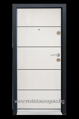 Входна врата модел СЛ-103 цвят Бяла