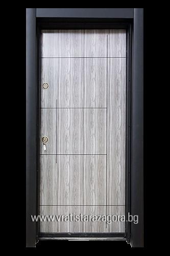 Входна врата модел СЛ-203 цвят Думан