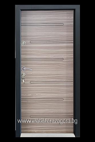 Входна врата модел СЛ-205 цвят Танганика