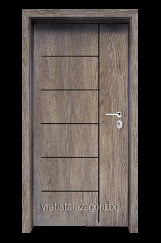 Блиндирана врата Модел Модел F-1001 цвят Ntekape