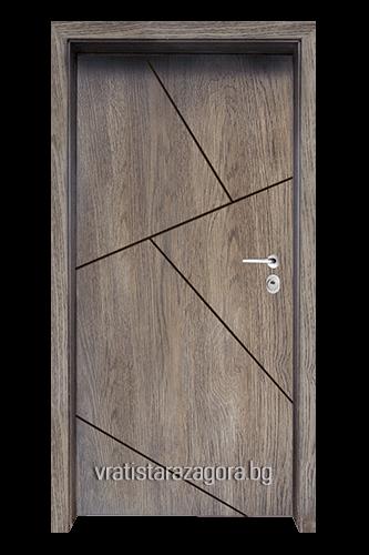 Блиндирана врата Модел Модел F-1003 цвят Ntekape