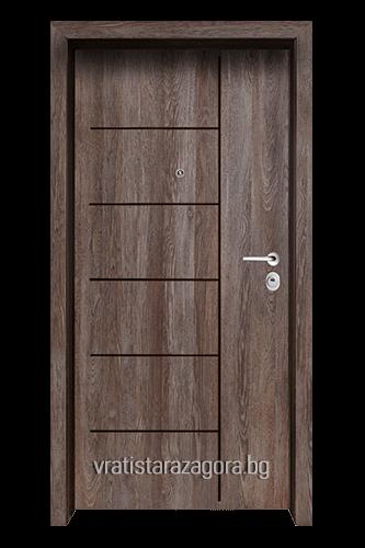 Блиндирана врата Модел Модел F-1001 цвят Kaneto