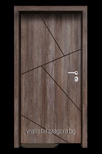 Блиндирана врата Модел Модел F-1003 цвят Kaneto