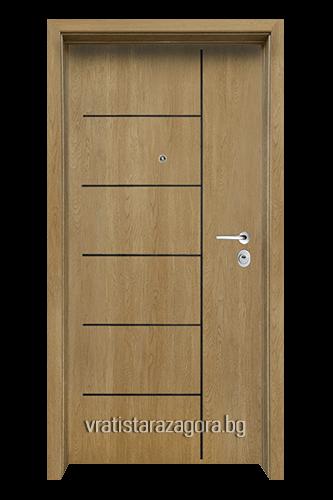 Блиндирана врата Модел Модел F-1001 цвят Fiamato