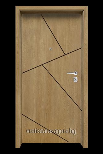Блиндирана врата Модел Модел F-1003 цвят Fiamato