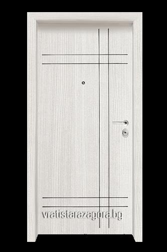 Блиндирана врата Модел Модел F-1002 цвят White