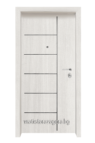 Блиндирана врата Модел Модел F-1001 цвят White