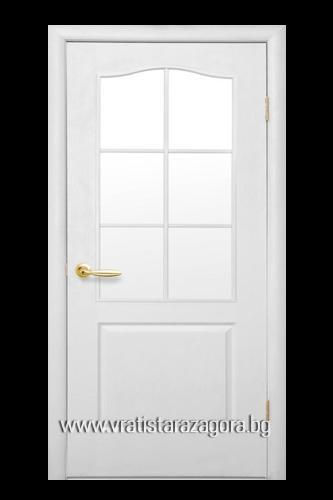 Интериорна врата Фортис стъкло