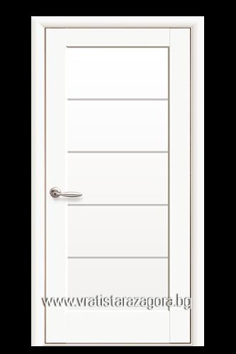 Интериорна врата Мира Бял мат