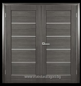 Двукрила врата Mira сива