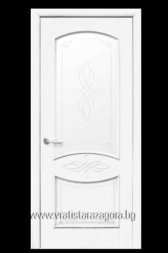 Интериорна врата Дона остъклена Бяла