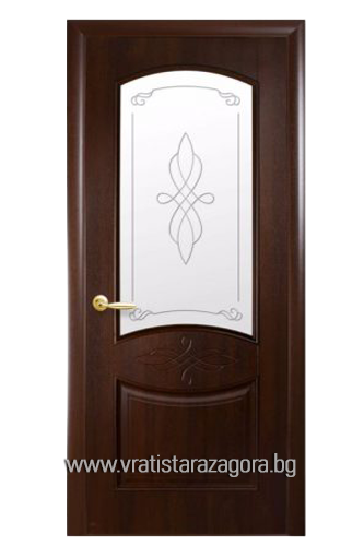 Интериорна врата Дона остъклена Кестен