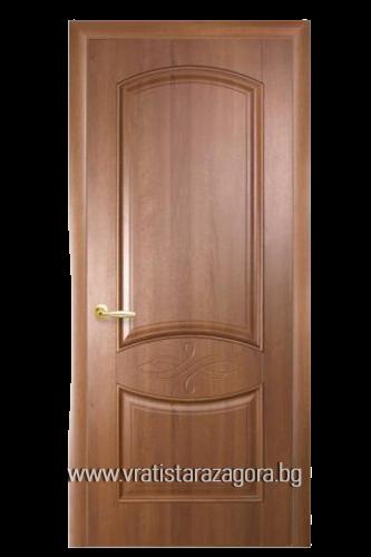 Интериорна врата Дона Плътна Златна елха
