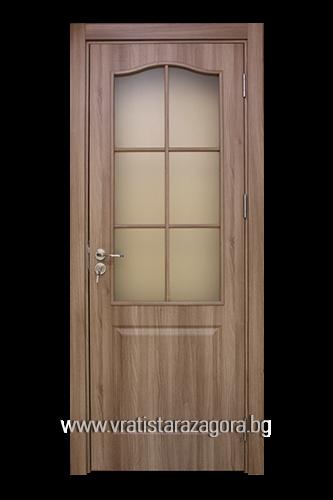 Интериорна врата Фортис остъклена Златен дъб