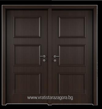 Двукрила портална врата модел Elegance 6N цвят Черен дъб