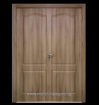 Двукрила портална врата модел Фортис плътна цвят Златен дъб