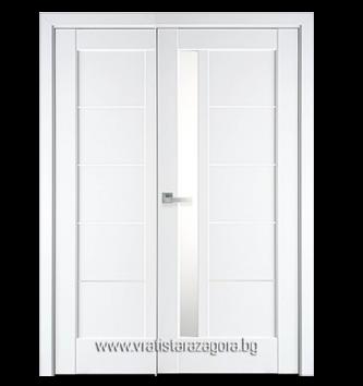 Двукрила портална врата модел Грета цвят Бял