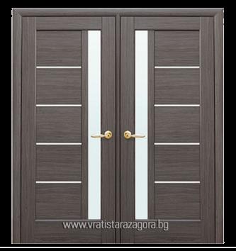 Двукрила портална врата модел Грета цвят Сив