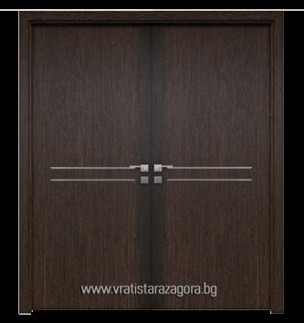 Двукрила портална врата модел Silver 2S цвят Melinga brown