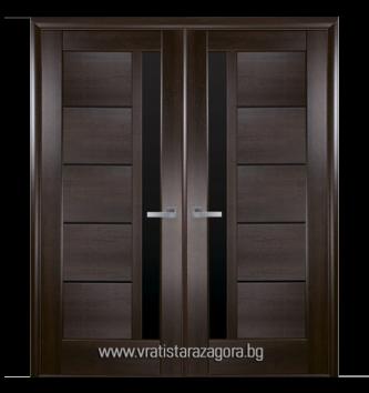 Двукрила портална врата модел Грета цвят Кестен