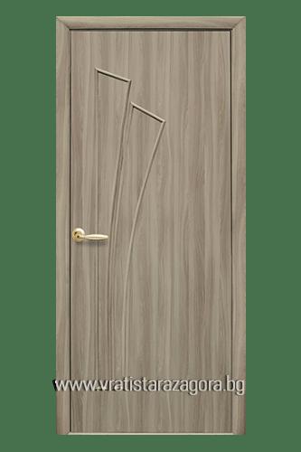 Интериорна врата модел Лилия Плътна цвят Златен дъб