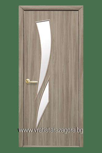 Интериорна врата модел Камея цвят Златен дъб