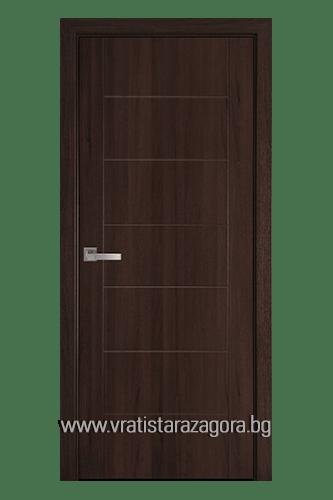 Интериорна врата модел Рина цвят Кестен