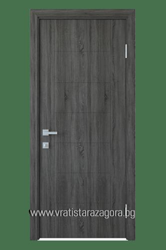 Интериорна врата модел Рина Цвят Сив