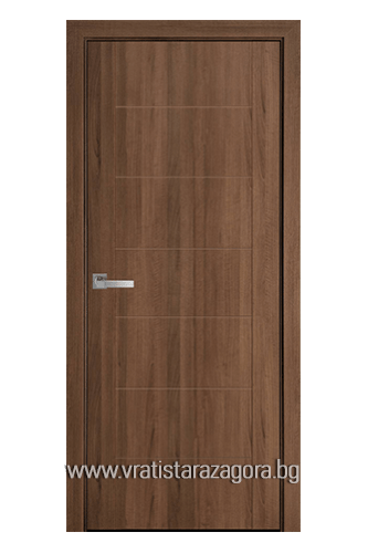 Интериорна врата модел Рина цвят Златна Елха