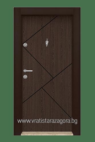 Входна врата модел 06 Венге
