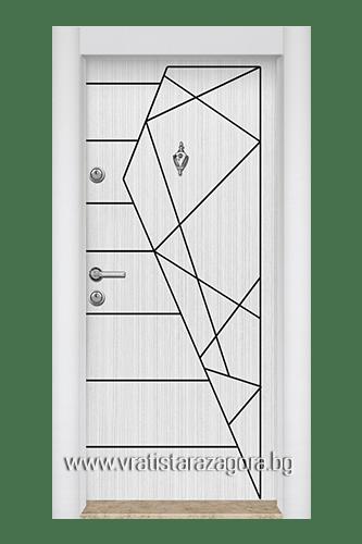 Входна турска врата Модел 01 Бяла Перла