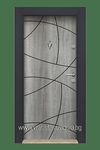 Входна врата модел 03 Сиво Меше